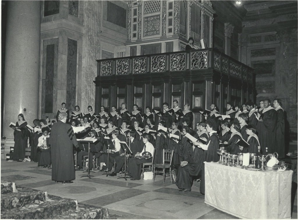 Collegiate Choir at the John Neumann Canonization  at St Paul outside the Walls7-22-77